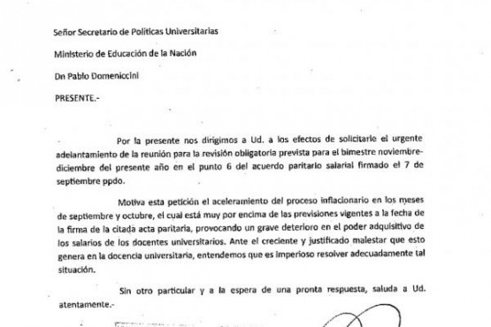 CONADU exigió el adelantamiento de la cláusula de revisión por inflación