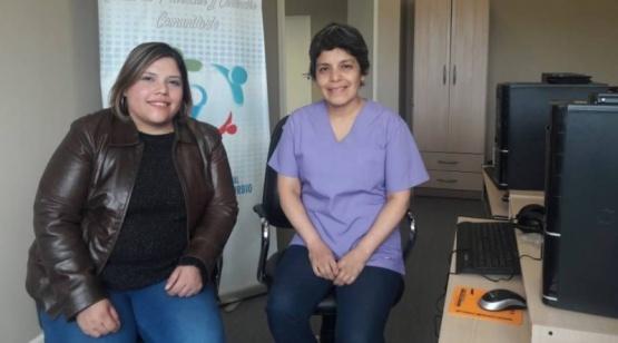 Marcela Díaz y Roxana Castro.