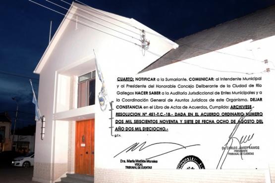 El Tribunal de Cuentas declaró abierto el juicio administrativo contra Cantín