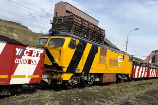 Llega un nuevo tren con 35 vagones cargados de carbón