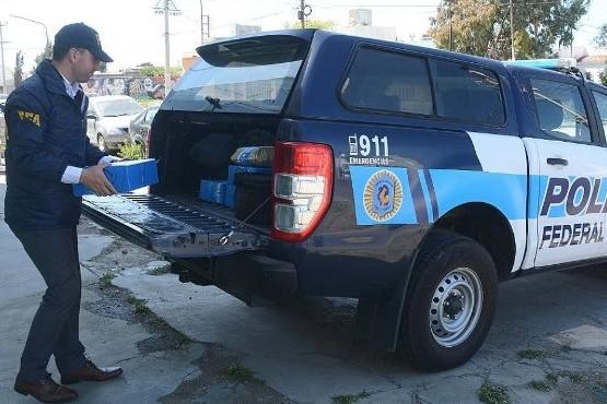 Lugar allanado por la Policial Federal.