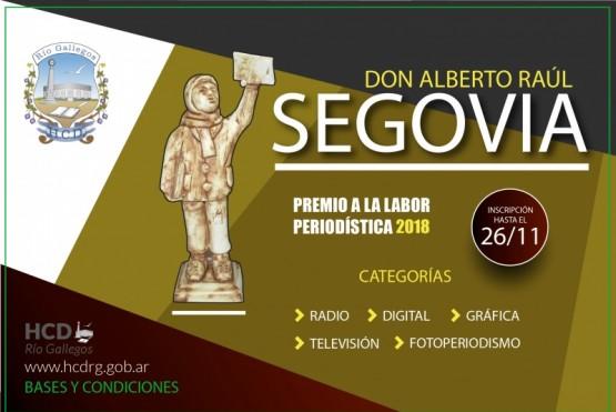 Abrieron las inscripciones para los premios Segovia