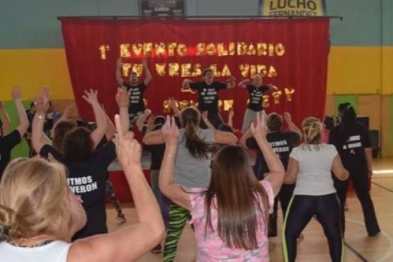 Gran concurrencia en el evento de Fitness Solidario