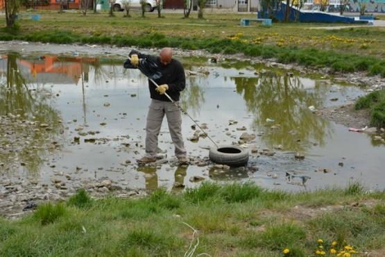 Trabajos realizados en el predio de la laguna. (C.R)
