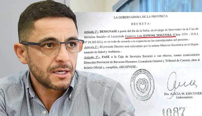 Sale Marcelo Castro. En su reemplazo, se decretó la designación de Federico Esteso frente a la CSS.