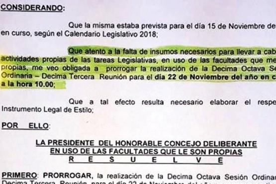 Concejal justicialista criticó el Presupuesto del intendente Garay