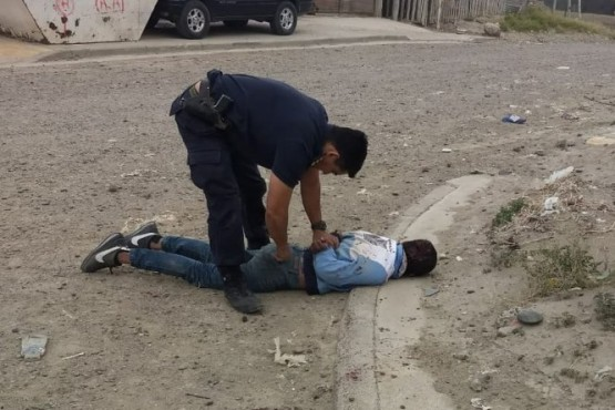 Le pegaron una paliza a un ladrón y quedó internado con fisura de cráneo