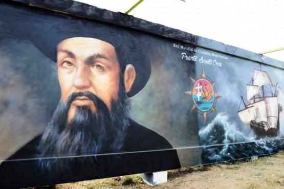 Los pioneros de Puerto Santa Cruz reconocidos con el arte
