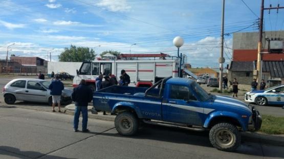 Un herido tras fuerte choque en Perón y Antonio Rivero