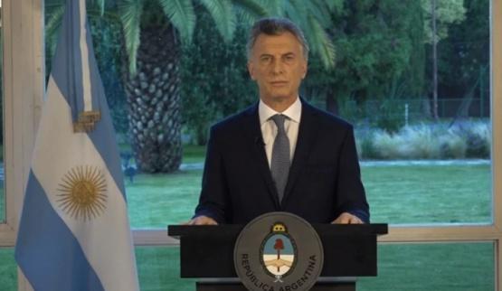 Macri habló desde la Quinta de Olivos.