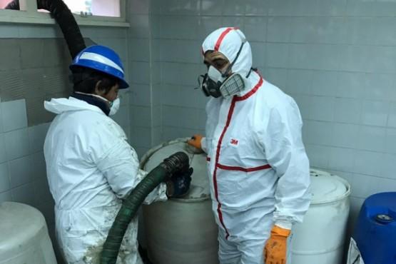 Finalizaron las tareas de eliminación de Residuos Peligrosos del Hospital Regional