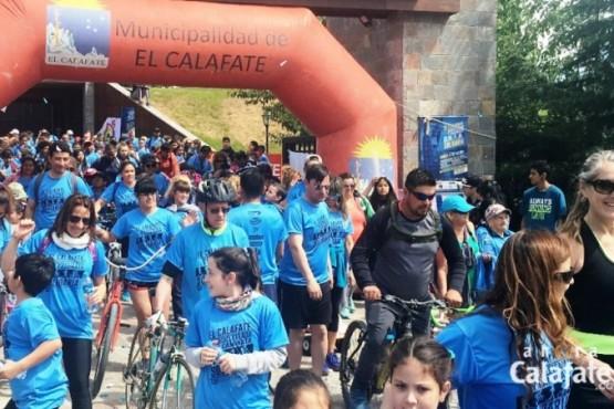 También hubo bicicleteada solidaria en El Calafate