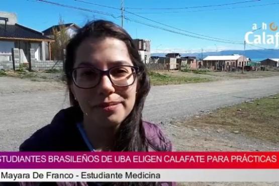 Estudiantes de medicina brasileños elijen El Calafate para sus prácticas
