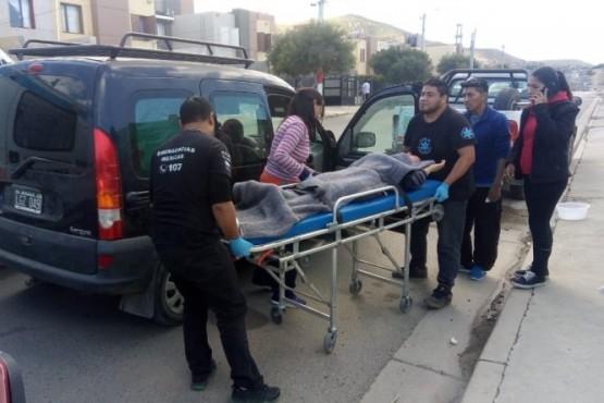 Una mujer de Caleta Olivia resultó herida tras un choque