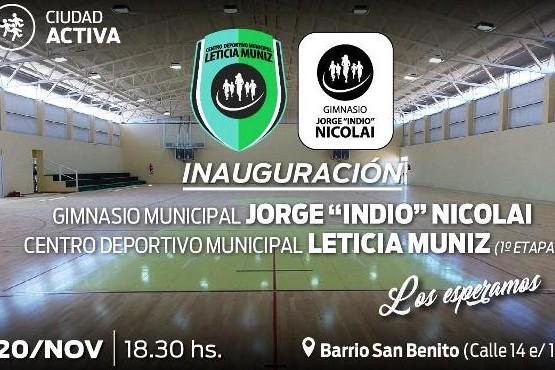 Esta tarde inaugura oficialmente el gimnasio municipal del San Benito