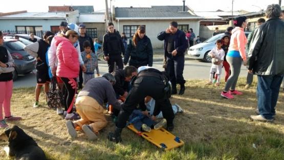 Un niño atropellado fue llevado al hospital