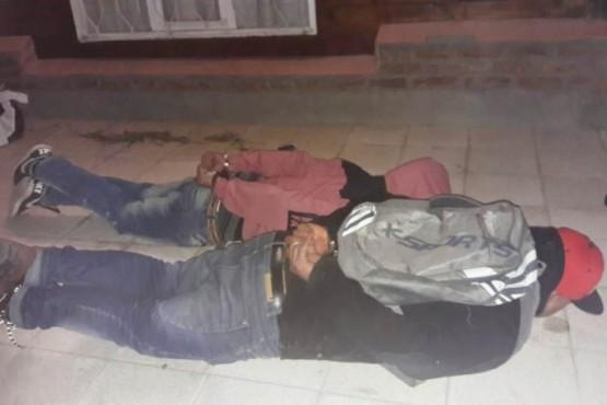 Dos sujetos fueron detenidos in fraganti