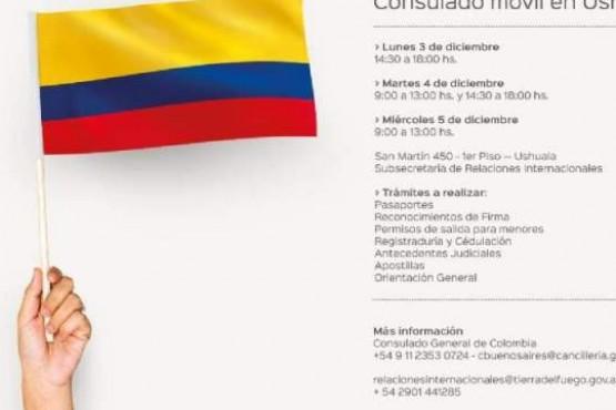 Anuncian que Consulado móvil de Colombia atenderá en Ushuaia
