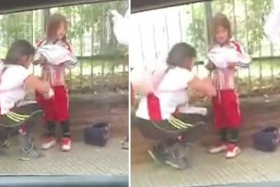 Detuvieron a la mujer que ocultó bengalas en la ropa de un nene
