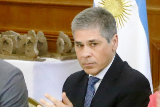González, ayer en acto por FOMICRUZ. (C.G.).