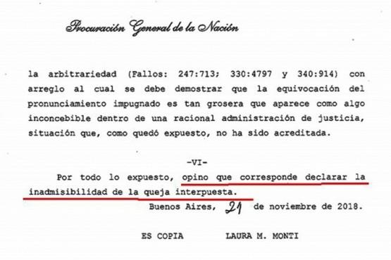 La Procuración dictaminó que la Ley de Lemas no es un asunto para la Corte