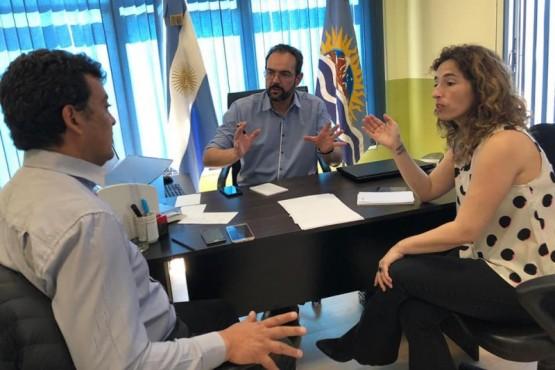 García recibió al intendente de Puerto Deseado