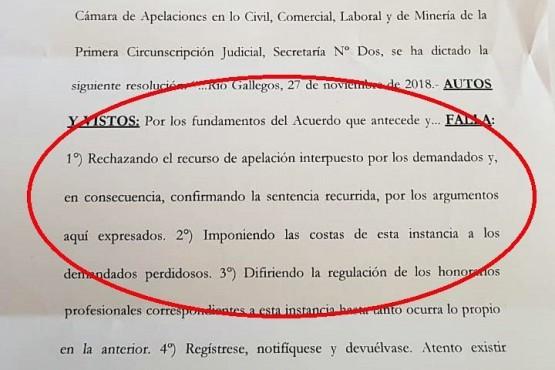 Se rechazó la apelación de Ruiz y los concejales del FPV