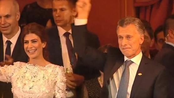 Mauricio Macri se emocionó en el cierre de la gala del Colón