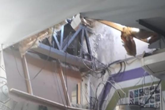 Boqueteros entraron por los techos a una pinturería