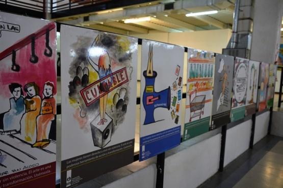 """Se expone el """"arte para la desnaturalización de la violencia"""""""