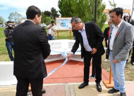 """Puerto Santa Cruz: inauguraron el """"Banco de la Libertad"""""""