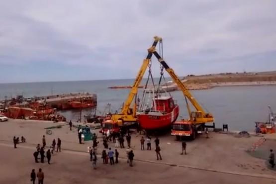 Botaron un buque que fue reparado en un astillero caletense