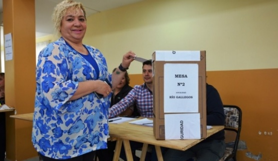 Viviana Carabajal, en la elección de ayer.