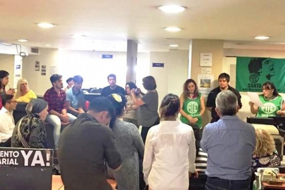 Ayer ATE realizó una asamblea en Casa de Santa Cruz en el marco de las paritarias. (Gentileza ATE Santa Cruz)