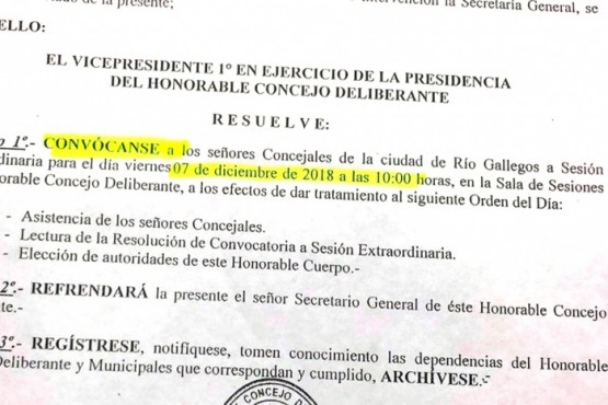 HCD Río Gallegos: la UCR no participará de la elección de autoridades