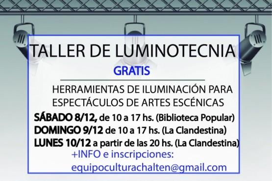 Se realizará un taller de luminotecnia