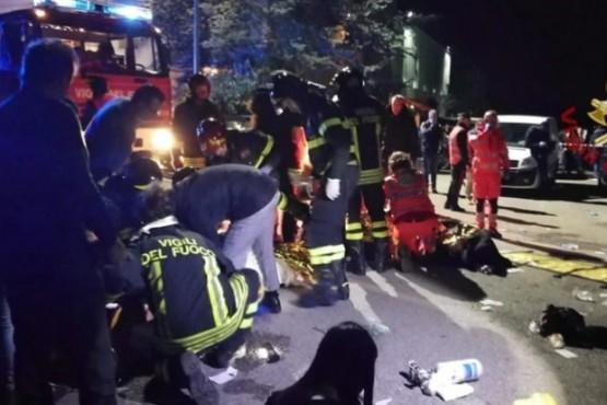 Seis muertos y más de 100 heridos tras una estampida en una discoteca en Italia