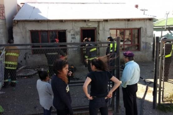 Se incendió una vivienda sobre calle Cepeda