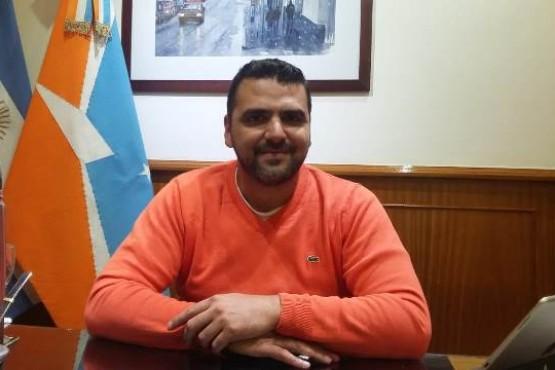 El intendente de Ushuaia, Walter Vuoto, en su despacho.