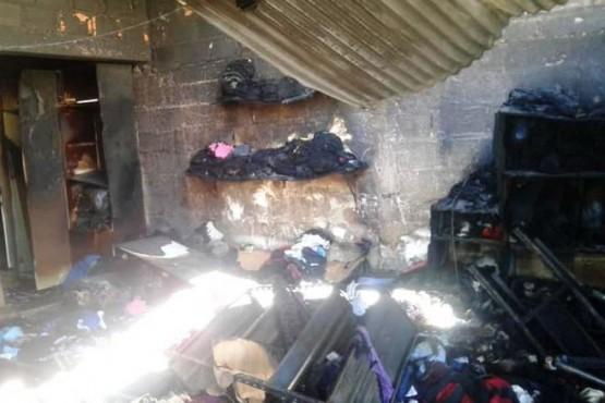 Incendio en un ropero comunitario y merendero
