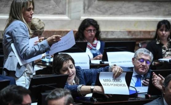 Senadoras se solidarizaron con Thelma Fardín