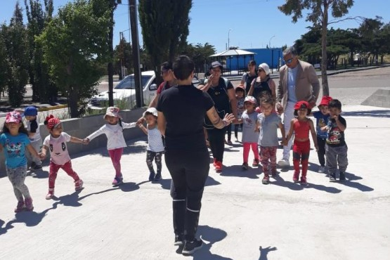 Cañadón Seco recibió a niños del CDI Virgen del Valle