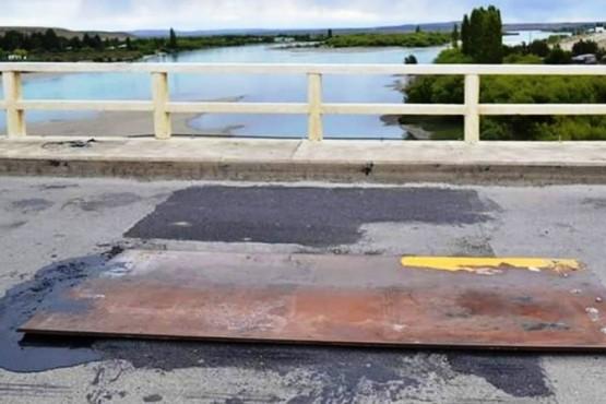 Vialidad Nacional realizó trabajos en el puente