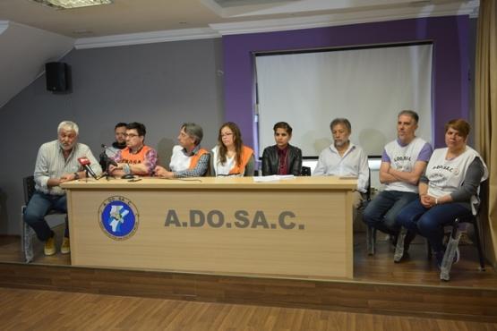 La Multisectorial realizó una conferencia al mediodía. (C.R)