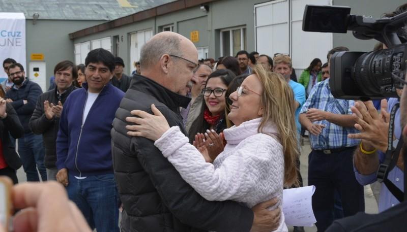 Alicia Kirchner y Francisco Anglesio