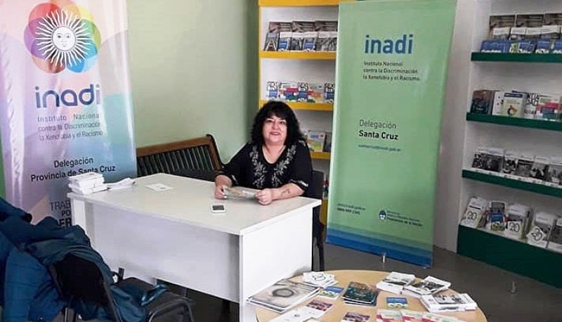 Marga Vera Low, delegada del INADI en Santa Cruz.