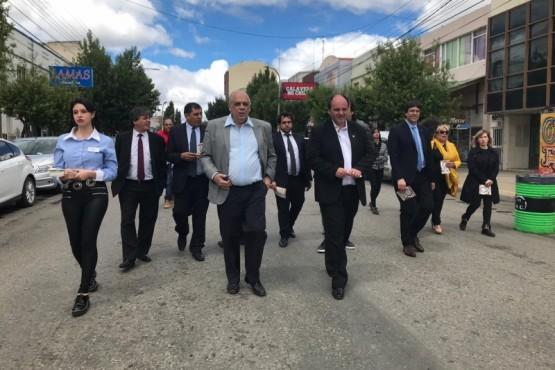 Giubetich y la presidenta de la CCIARG recorrieron la peatonal