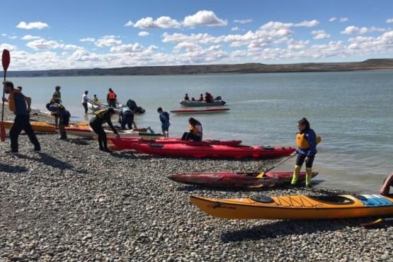 El kayac se sumó a las actividades del paseo aniversario 133º