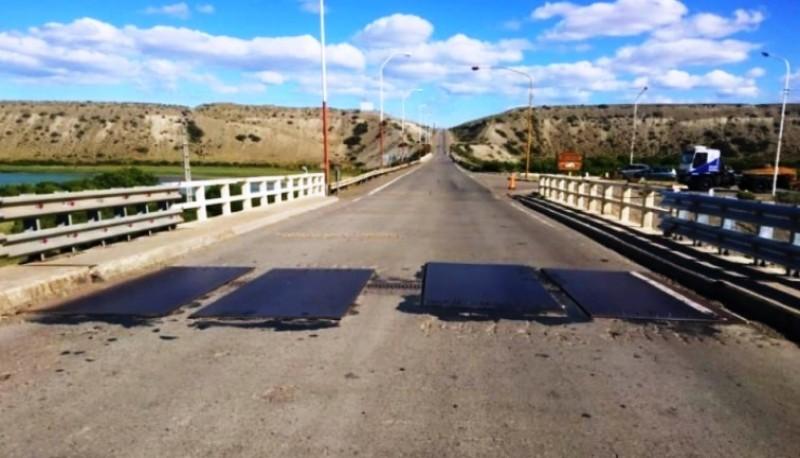 El puente tiene circulación restringida hasta el viernes.