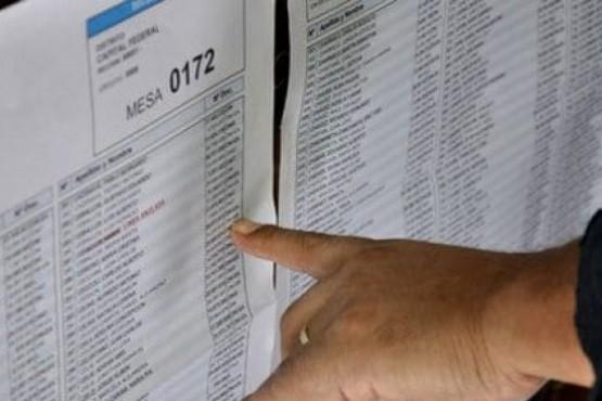 Elecciones 2019: ya se puede consultar el padrón provincial provisorio